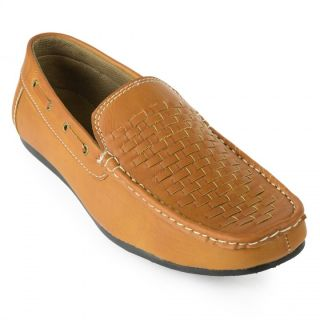 Baaj Tan Synthetic Leather Slip-On Casual Shoes BJ3105