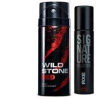 Wild Stone Ultra Sensual Deodorant, 150ml  Axe Signature Intens Body Perfume, 122ml
