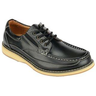 Khadims Lazard Black Lace-up Mens Shoes