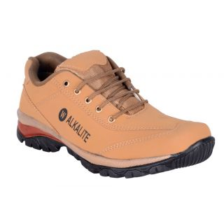 Walkalite Mens Beige Casual Shoes