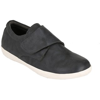Troy Mens TC300 Black Faux Leather Casual Slip-Ons