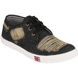 Troy Mens TC332 Black Denim Sneakers