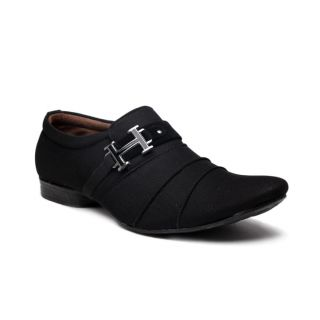 BAAJ Black Slip On Casual Shoes BJ118