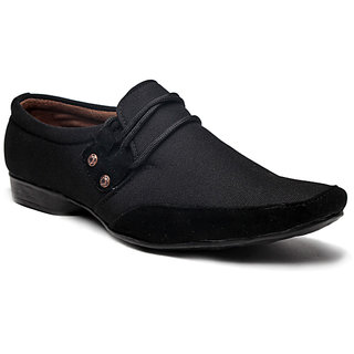 BAAJ Black Slip On Casual Shoes BJ119