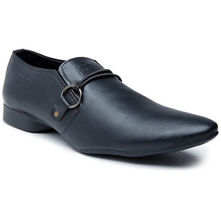 BAAJ Black Slip On Casual Shoes BJ123