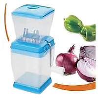 Onion Vegetable Cutter Slicer Chopper , Handle Kitchen Use SSTEEL Blades - 93878360