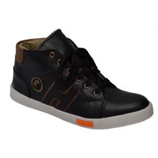 Trendigo MenS Black Lace-Up Casual Shoes - 93761756