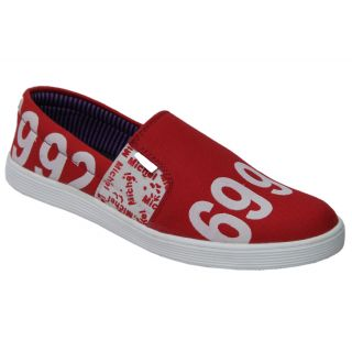 Trendigo MenS Red Slip-On Casual Shoes - 93761898