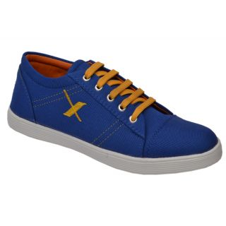 Trendigo MenS Blue Lace-Up Casual Shoes - 93761765