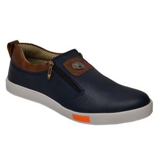 Trendigo MenS Blue Slip-On Casual Shoes