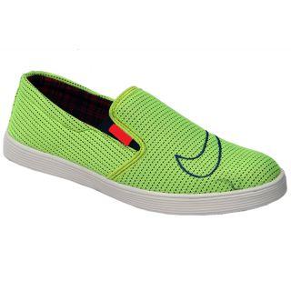 Trendigo MenS Light Green Slip-On Casual Shoes