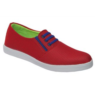Trendigo MenS Red Slip-On Casual Shoes