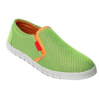 Trendigo MenS Light Green Slip On Casual Shoes