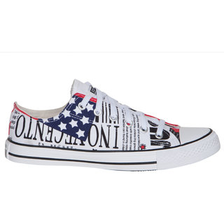 Converse MenS White Lace Up Sneakers