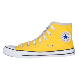 Converse MenS Yellow Lace Up Sneakers