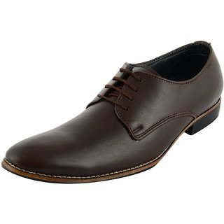 SlipON Mens Brown Leather Derby Shoes