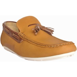 Loafers Club Casual Shoes For Mens Unlined Loafer Color TAN+BROWN