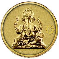 140mg Ganesh Gold Coin By Parshwa Padmavati Gold