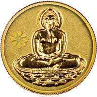 140mg Mahavir Swami Gold Coin By Parshwa Padmavati Gold