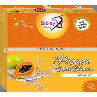 SIBLEY BEAUTY PAPAYA ANTI BLEMISH FACIAL KIT 7 IN 1 340 GM WITH FREE SIBLEY BEAUTY BLEACH CREAM 330GM