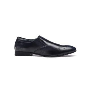 Bruno Manetti MenS Black Formal Slip On Shoes