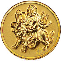 140mg Durga Gold Coin By Parshwa Padmavati Gold