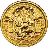 140mg Darbar Ganesh Gold Coin By Parshwa Padmavati Gold