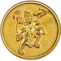 140mg Hanuman Gold Coin By Parshwa Padmavati Gold