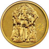 140mg Lalbaug Ganesh Gold Coin By Parshwa Padmavati Gold