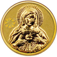 140mg Mother Mary Gold Coin By Parshwa Padmavati Gold