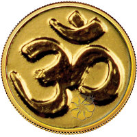 140mg OM Gold Coin By Parshwa Padmavati Gold