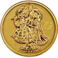 140mg Radha Krishna Gold Coin By Parshwa Padmavati Gold