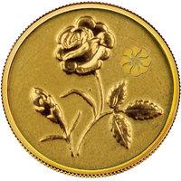 140mg Rose Gold Coin By Parshwa Padmavati Gold