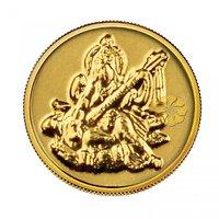 140mg Saraswati Gold Coin By Parshwa Padmavati Gold