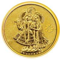 250mg Radha Krishna Gold Coin By Parshwa Padmavati Gold