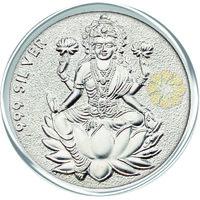 800mg Laxmi Silver Coin 999 Purity By Parshwa Padmavati Gold