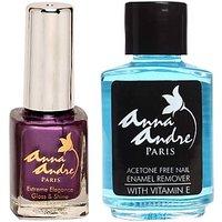 Nail Polish Shade 80051 Purple Heart + Acetone Free Nail Enamel Remover