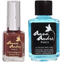 Nail Polish Shade 80065 Hot Chocolate + Acetone Free Nail Enamel Remover