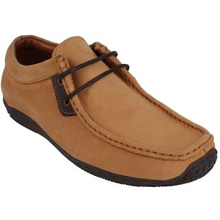 Pruto Leather Tan Mens Casual Shoes