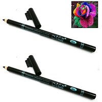 2 Pieces MeNow Waterproof  Long Lasting Perfect Smoother Black EYEBROW Pencil Now In India