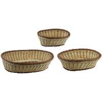 Poly Woven Roti Serving Basket - Bread Basket - Set Of 3