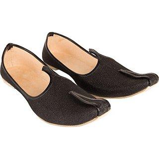 Skylyf Synthetic Wedding Function Black Ethnic Mojari Mozari Jutti Juti Jooti Footwear