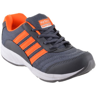 Grey Orange Casual Shoes