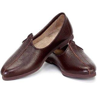 Skylyf Brown Casual Ethnic Mojari Mozari Jutti Juti Jooti Footwear