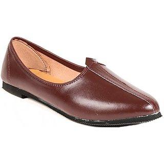 Skylyf Brown Desi Casual Ethnic Mojari Mozari Jutti Juti Jooti Footwear