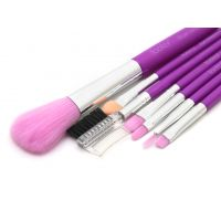 Foolzy 7pcs Professional Cosmetic Makeup Brush Brushes Set Kit With Purple Bag Case