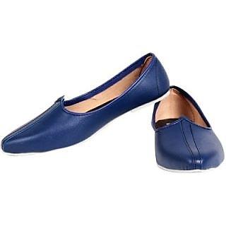 Skylyf Blue Desi Casual Ethnic Mojari Mozari Jutti Juti Jooti Footwear - 94492169