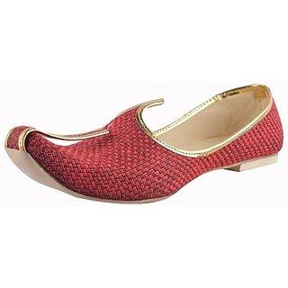 Skylyf Red Jute Casual Ethnic Mojari Mozari Jutti Juti Jooti Footwear