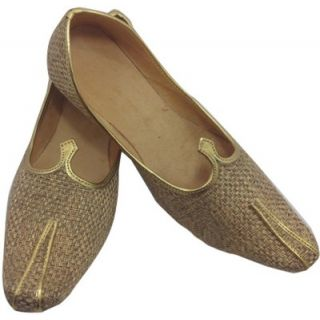 Skylyf Jute Light Brown Or Camel Colour Ethnic Mojari Mozari Jutti Juti Jooti Footwear