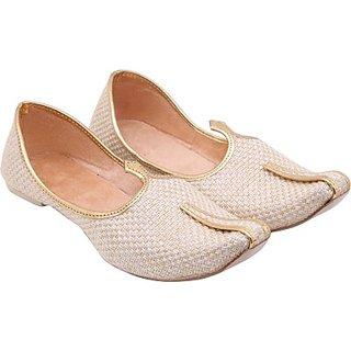 Skylyf Cream Jute  Ethnic Mojari Mozari Jutti Juti Jooti Footwear